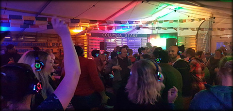 Silent disco events in Edinburgh, Glasgow, Aberdeen, Dundee, Fife & Stirling