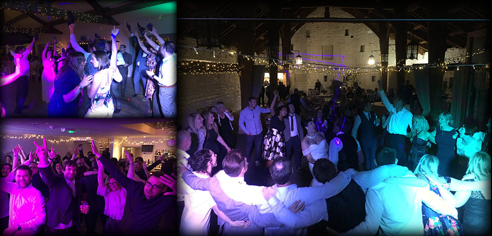 memorable images from some of our recent wedding DJ sets around Yorkshire