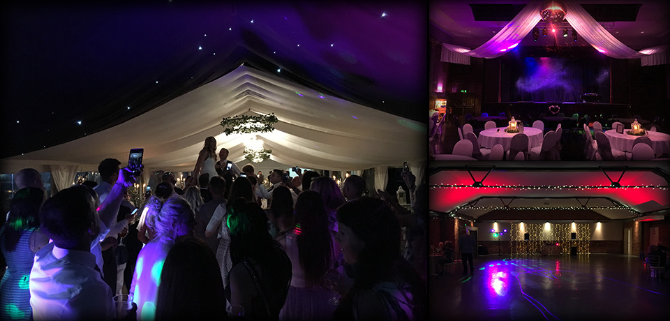DJ lighting at recent weddings