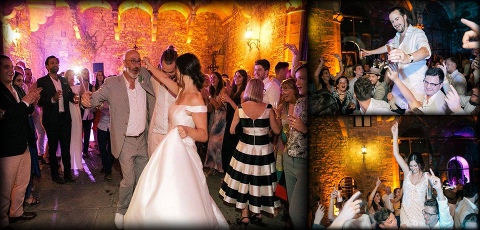 Tuscan castle Wedding DJ Set