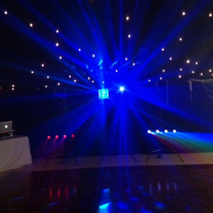 DJ lighting used by our DJs at weddings and corporate events
