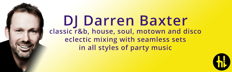 DJ Darren Baxter for funk, hip hop, soul and indie in Sheffield