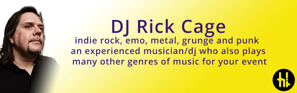 specialist rock wedding dj for hire Sheffield DJ Rick Cage