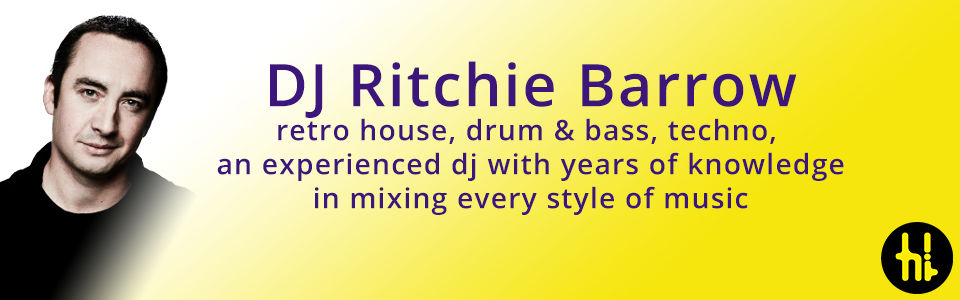 DJ Ritchie Barrow plays old skool house and techno in Edinburgh and Glasgow and plays weddings and private events